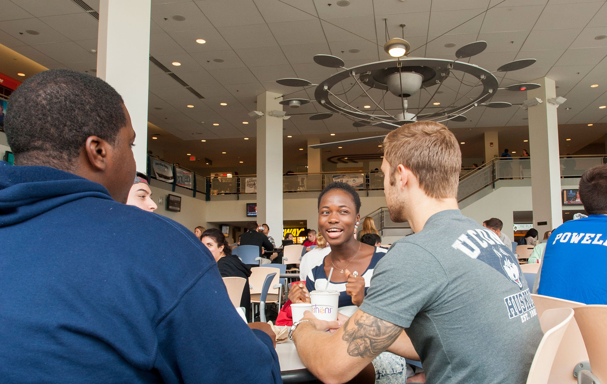 students dine at the Student Union Cafeteria